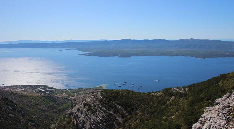 Brac: Blick vom Vidova Gora