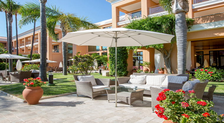 Gartenbereich am Hotel Hipotels Barrosa Palace