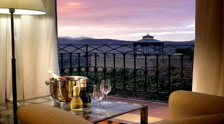 Ausblick vom Hotelzimmer im Parador de Ronda