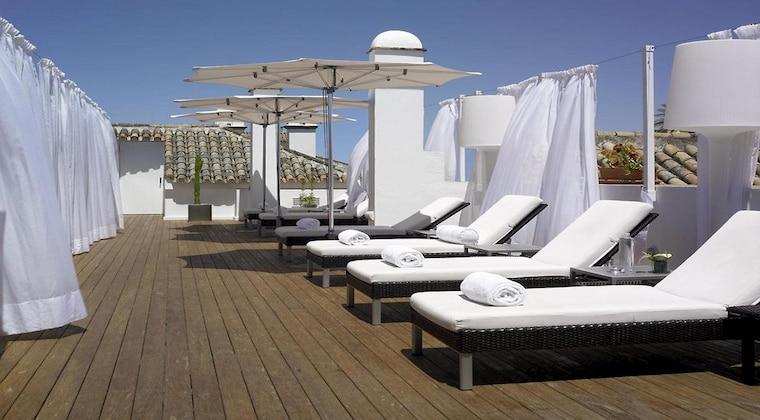 Dachterrasse im Hotel Hospes las Casas del Rey de Baeza