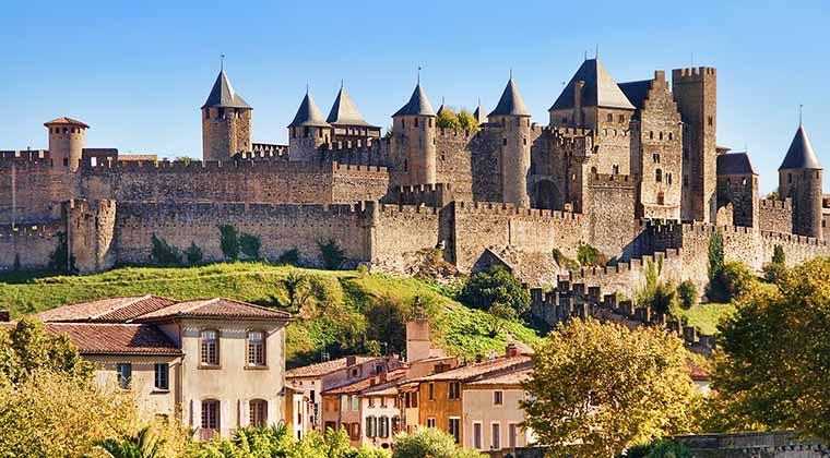 Urlaub in Südfrankreich Schloss Carcassonne