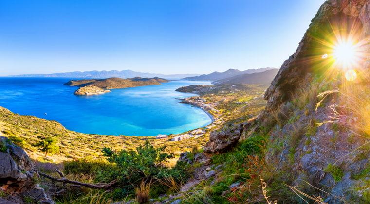 Kretas Berge mit Blick auf Spinalonga