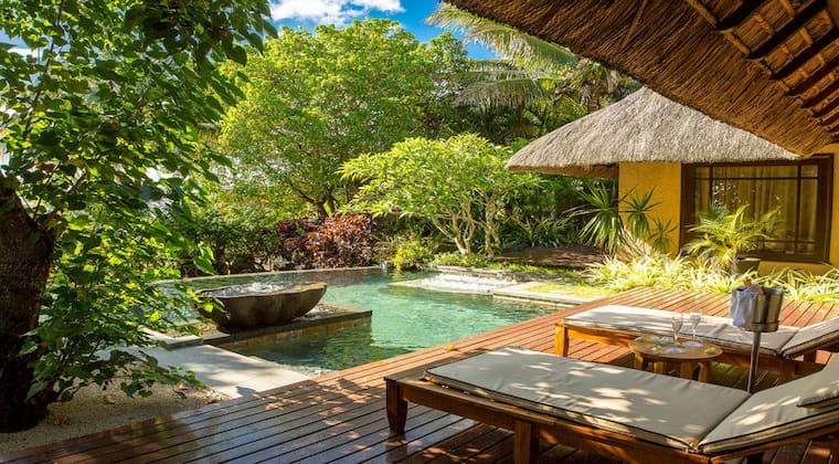 Mauriitius Shanti Resort Hotelzimmer mit eigenem Pool