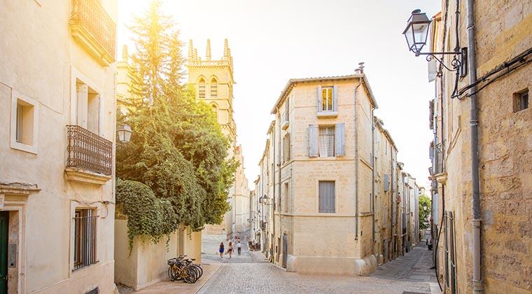Hübsche Gassen in der Altstadt von Montpellier