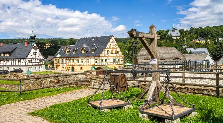 Mittelgebirge Deutschland die Saigerhütte im Grünthal