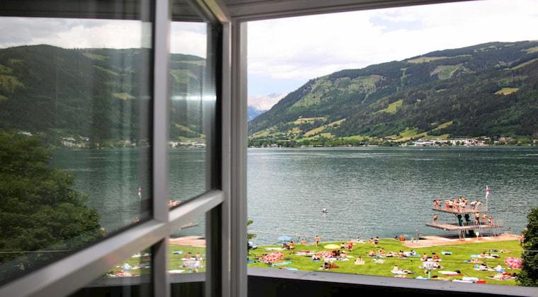 Blick auf den Zellersee Hotel am See