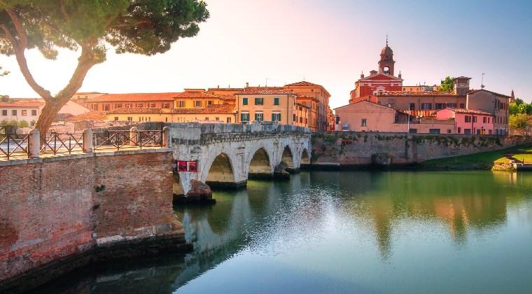 Rimini Altstadt Tiberius Brücke