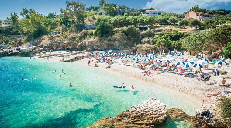 Kassiopi Strand Korfu