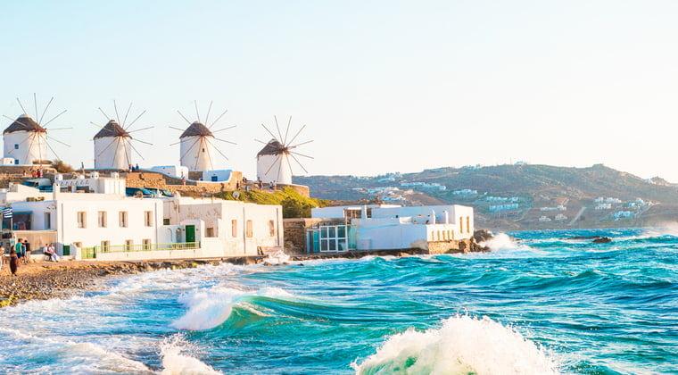 Klein Vendig und Windmühlen auf Mykonos