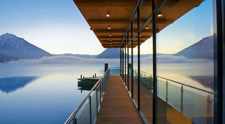 Haus am See Wellnessbereich mit wunderschönem Ausblick