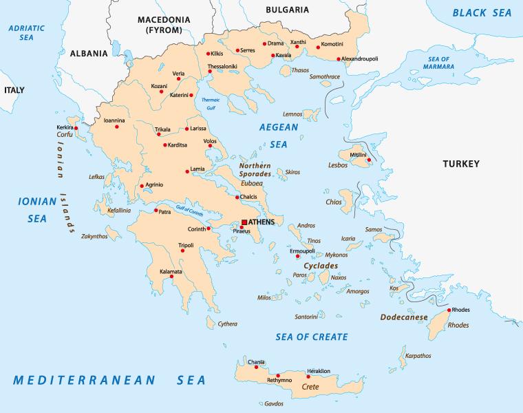 griechische Inseln Übersicht