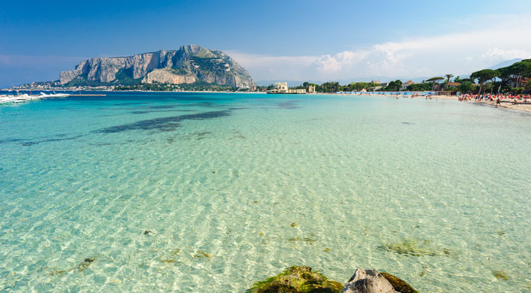 Sizilien Strand Mondello