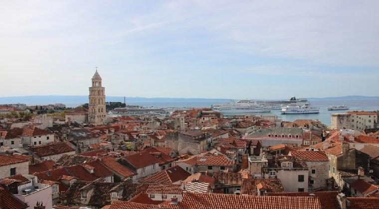 Die schöne Stadt Split in Kroatien