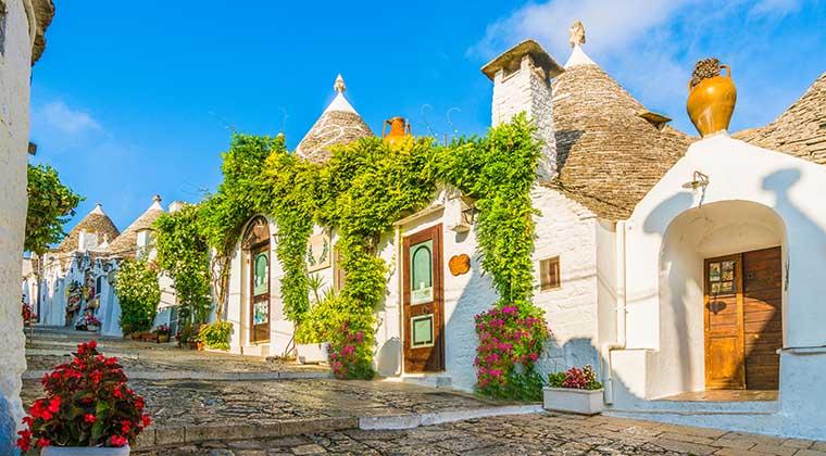 Die bekannteste aller Apulien Sehenswürdigkeiten: Trulli-Häuser