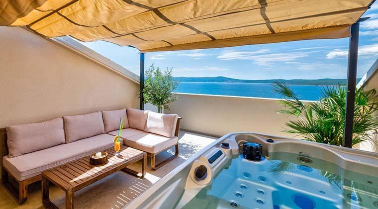 Ferienwohnung mit Whirlpool in Kroatien