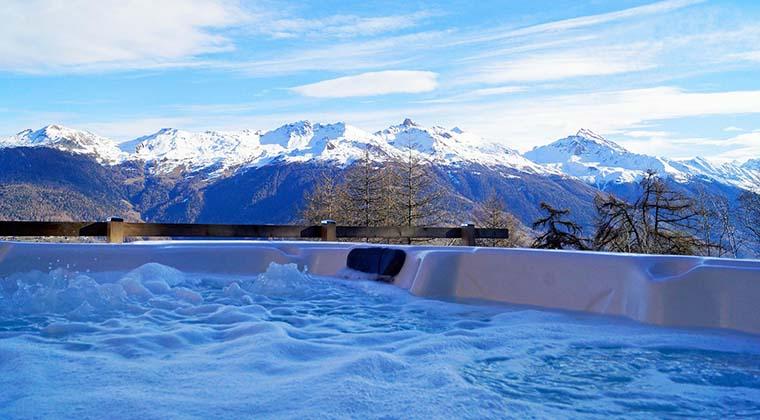 Ferienhaus mit Whirlpool in der Schweiz