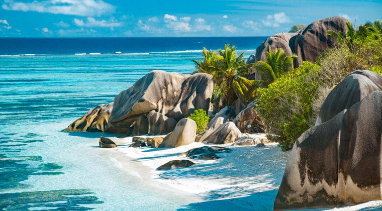 Seychellen schönster Strand Anse Source D`Argent