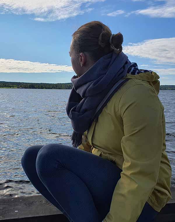 Miriam auf der Insel Andersön
