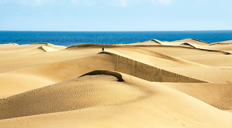 Kanaren Gran Canaria Sanddünen
