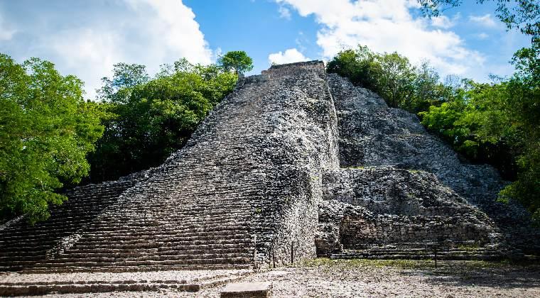 Pyramide Nohoch Mul in Mexiko