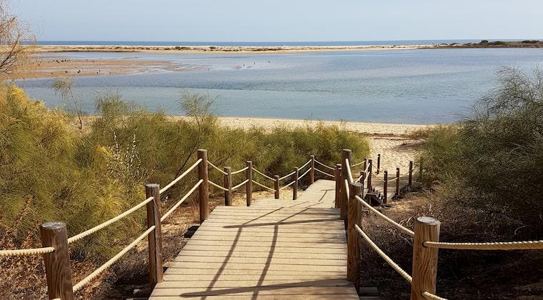 Steg zum Strand Praia de Cacela Velha