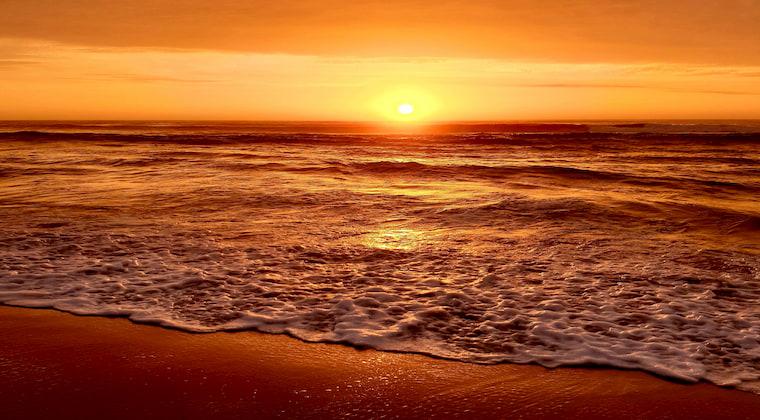 Sonnenuntergang am Praia Grande