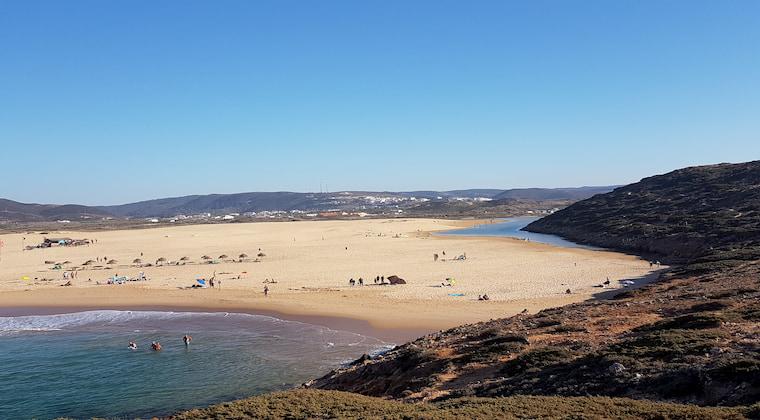 Praia da Amoreira von oben