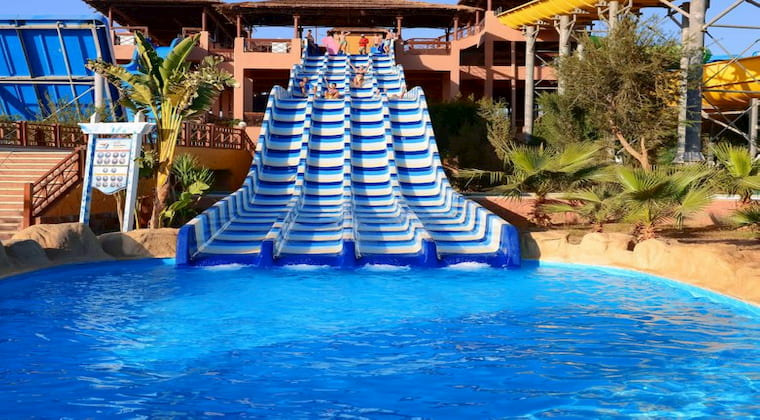 Wasserrutsche im Jungle Aqua Park