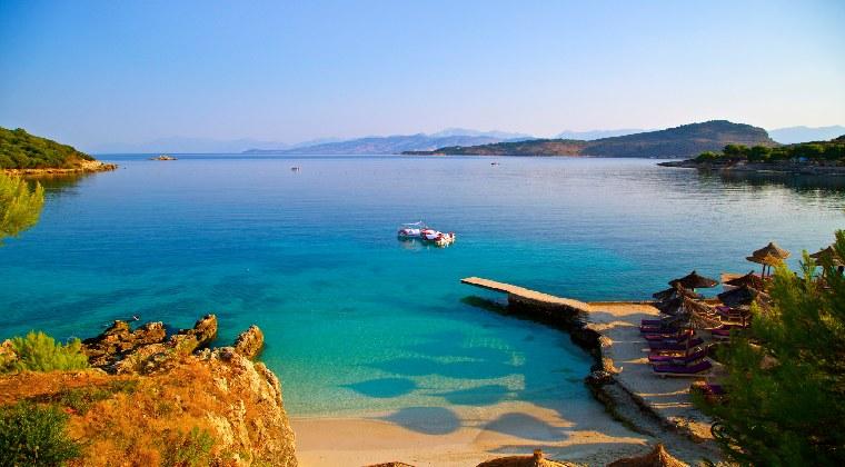 Albanien Bucht in Ksamil