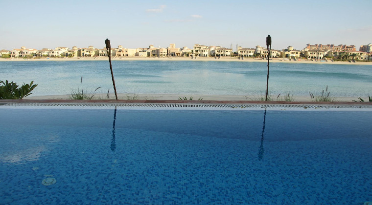 Dubai Palmeninsel Blick auf Paläste