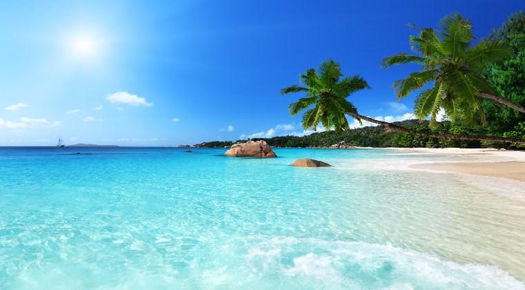 Seychellen Insel Praslin Traumstrand