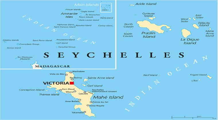 Landkarte Seychellen Inselhopping