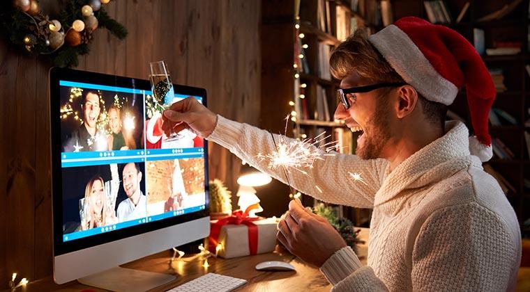 Digital mit Freunden Silvester feiern