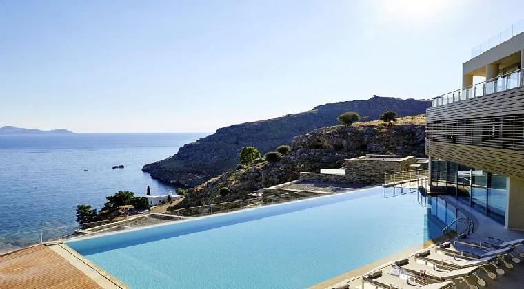 Erwachsenenhotel Griechenland Rhodos Lindos Blu Hotel