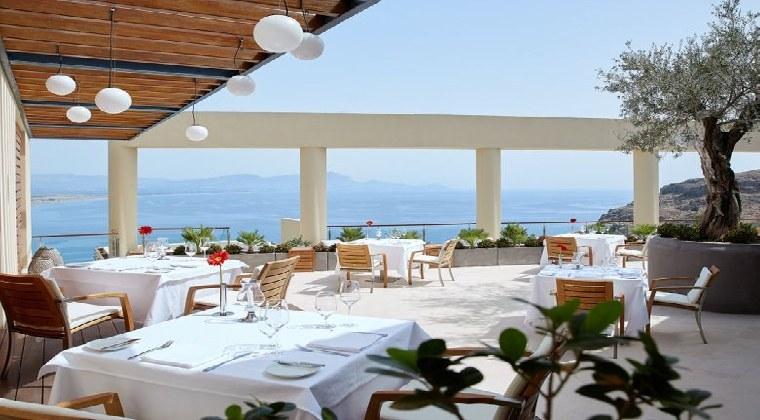 Erwachsenenhotel Griechenland Rhodos Lindos Blu Restaurant