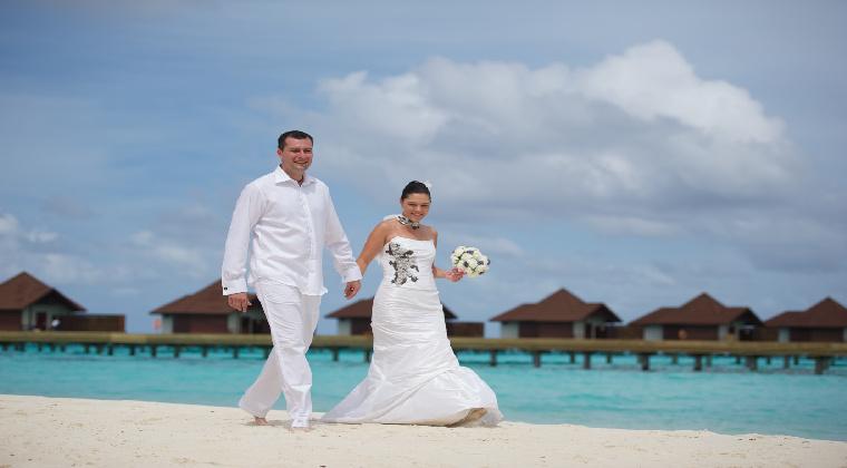 Hochzeit Malediven am Strand