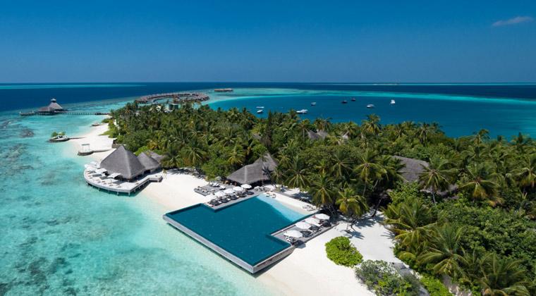 Huvafen Fushi Maledives Aussenansicht