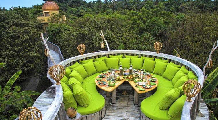 Soneva Fushi Garten Dinner