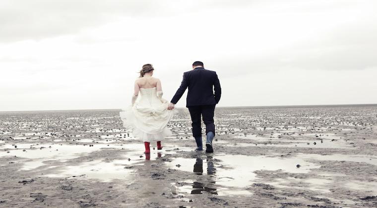Nordsee Brautpaar