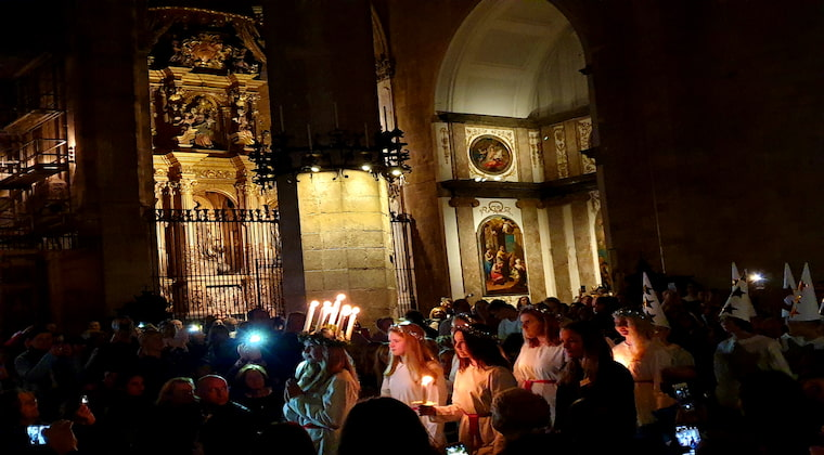 Santa Lucia Fest in Kathedrale Palma
