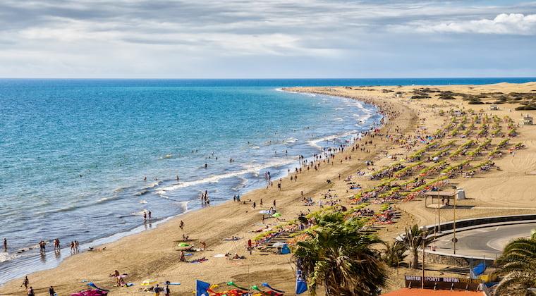 Der Strand von Playa de Inglès