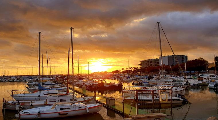 Hafen Portixol Mallorca Sonnenuntergänge