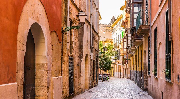 Die hübsche Altstadt in Palma de Mallorca
