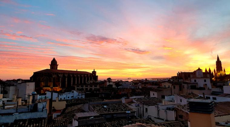 Palma Suites Mallorca Ausblick Dachterrasse