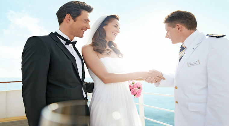 TUI Cruises Eheschließung Kapitän