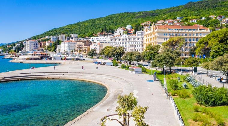 die Promenade in Opatija Adria