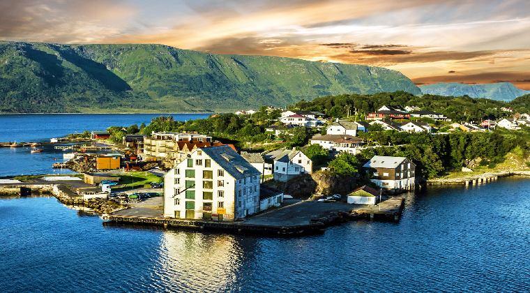 Norwegen Sicht auf Alesund