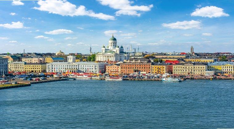 Finnland Blick auf Helsinki