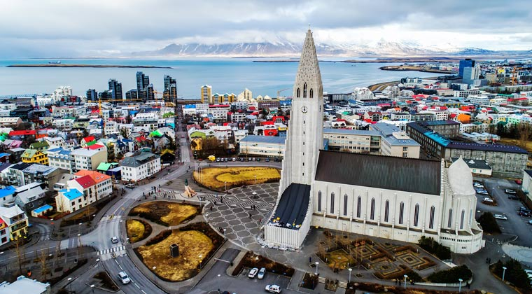 Island Reykjavik Hallgrimskirche