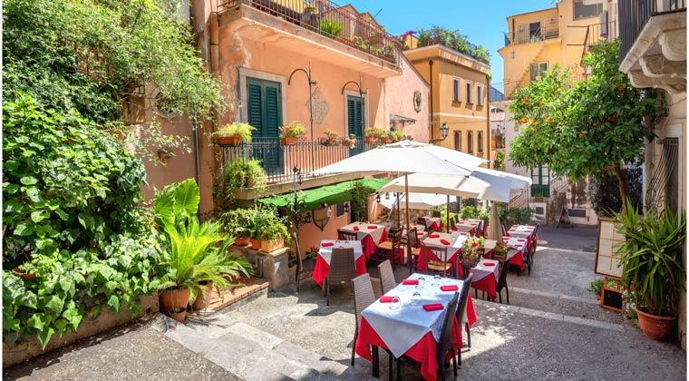 Italien Städte Sizilien Altstadt Taormina